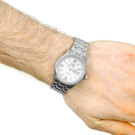 Rotary Legacy Mens Casual Watch   White Round Dial   Steel Bracelet Band   GB90173/01 Thumbnail 4