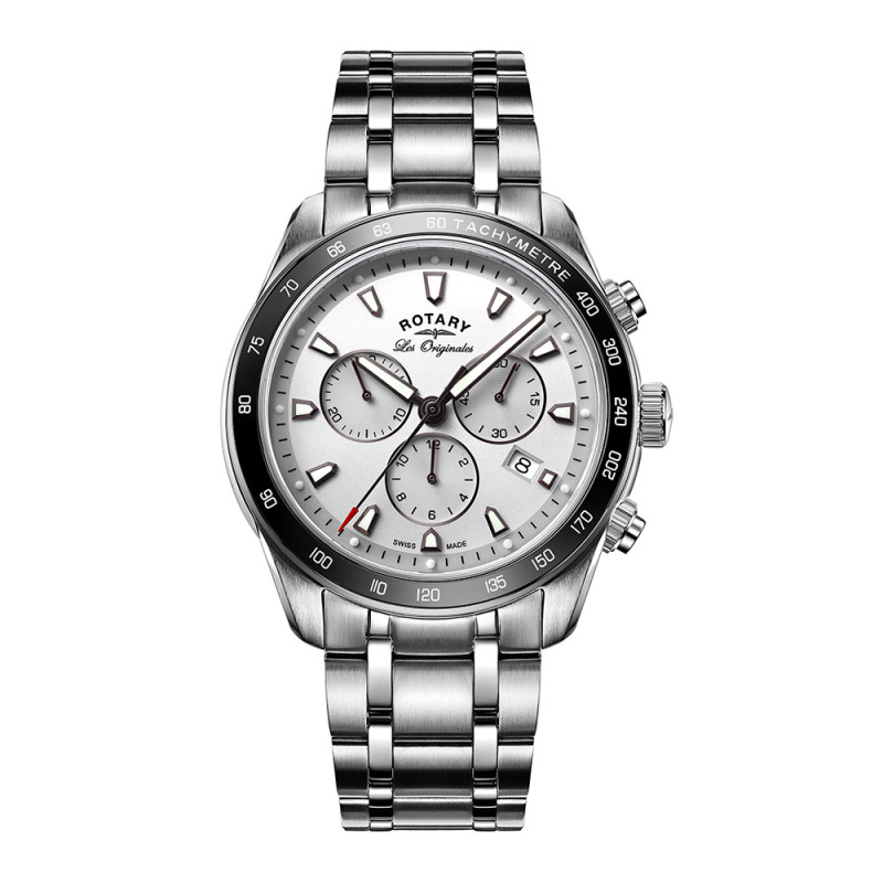Rotary Legacy Mens Luxury Watch | Chronograph Silver Dial | Bracelet Band | GB90169/02