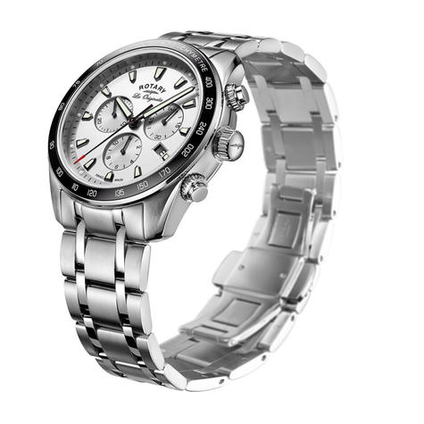 Rotary Legacy Mens Luxury Watch | Chronograph Silver Dial | Bracelet Band | GB90169/02 Thumbnail 2