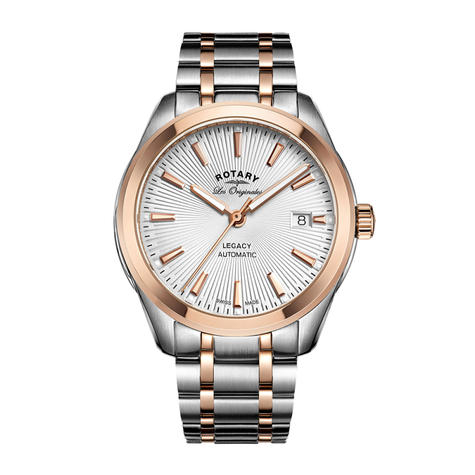 Rotary Legacy Automatic Men's Watch | Sunburst Dial | Dual Tone Bracelet | GB90167/06 Thumbnail 1