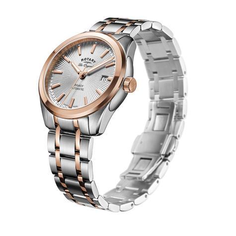 Rotary Legacy Automatic Men's Watch | Sunburst Dial | Dual Tone Bracelet | GB90167/06 Thumbnail 2