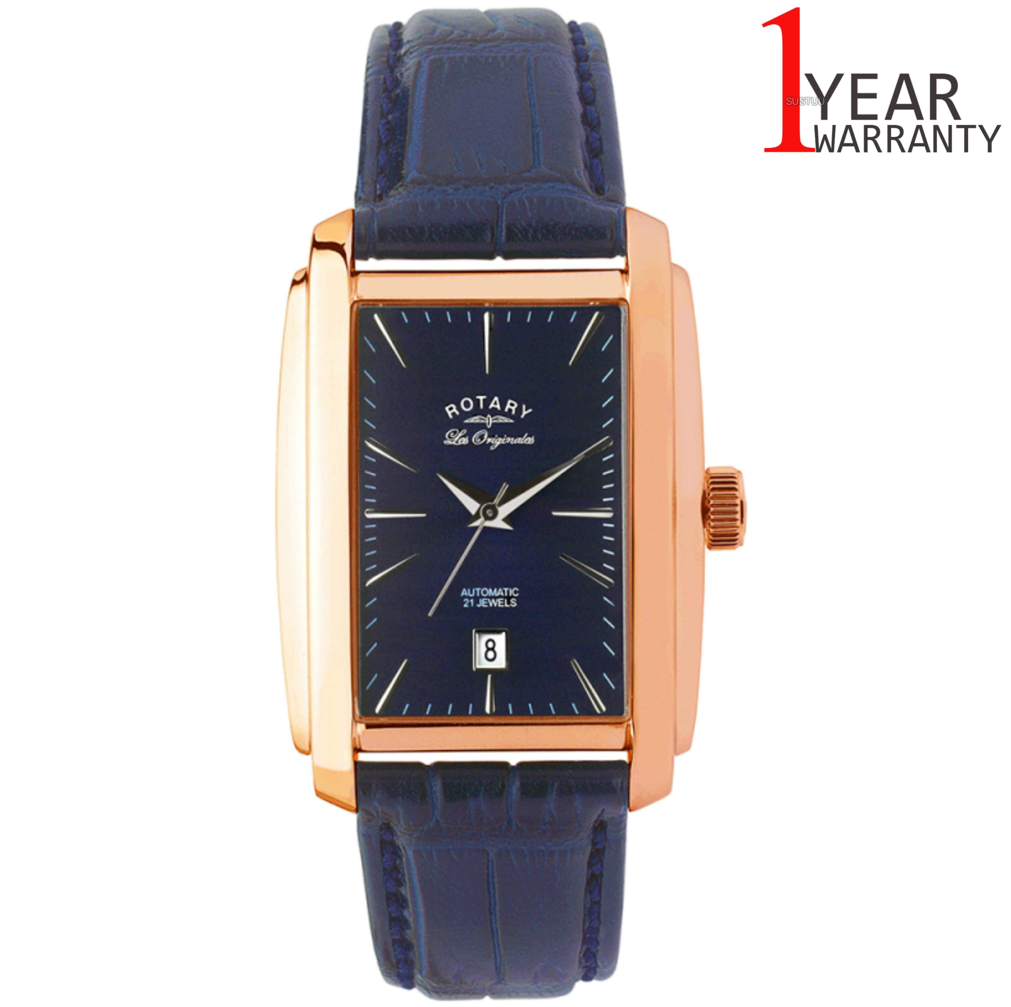 Rotary Automatic Limited Edition Mens Watch | Blue Dial | Leather Strap | LE90014/05