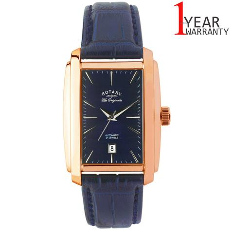 Rotary Automatic Limited Edition Mens Watch | Blue Dial | Leather Strap | LE90014/05 Thumbnail 1