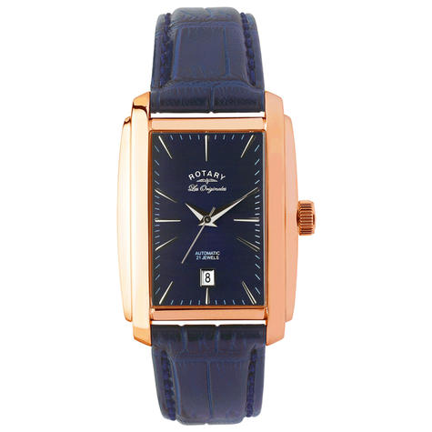 Rotary Automatic Limited Edition Mens Watch | Blue Dial | Leather Strap | LE90014/05 Thumbnail 2