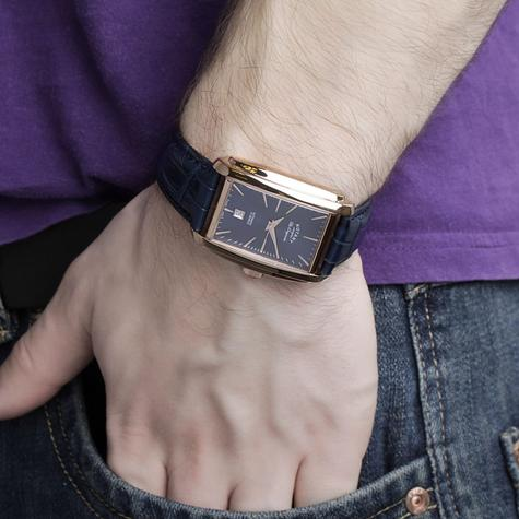 Rotary Automatic Limited Edition Mens Watch | Blue Dial | Leather Strap | LE90014/05 Thumbnail 3