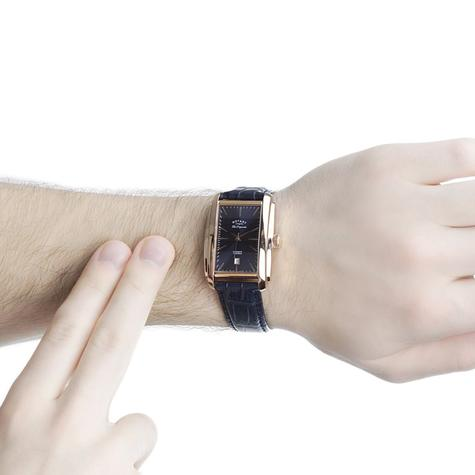 Rotary Automatic Limited Edition Mens Watch | Blue Dial | Leather Strap | LE90014/05 Thumbnail 4