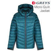 Greys Micro Quilt Showerproof Jacket | Thinsulate Wadding Material | For Fishing | Petrol