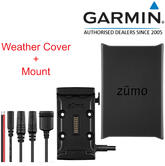 Garmin Motorcycle Mount Bracket / Holder & Power Cable + Weather Cover Cap?For Zumo 590LM & 595LM