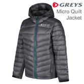 Greys Micro Quilt Showerproof Jacket | Thinsulate Wadding Material | For Fishing | Steel
