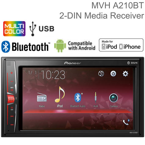Pioneer 6.2? Car Stereo | Radio | Media Player | Bluetooth | iPod-iPhone-Android | USB/AUX Thumbnail 1