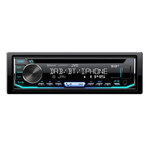 JVC Car Stereo | CD Receiver | DAB+ Tuner | Bluetooth | USB/AUX-in | iPod-iPhone-Android Thumbnail 2