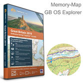 Memory-Map Great Britain OS Explorer 1:25k 2019 Road Map | Use Up to 5 Devices | USB