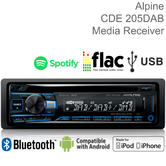 Alpine Car Stereo | DAB+ Radio | CD Player | Bluetooth | USB/Aux in | iPod-iPhone-Android