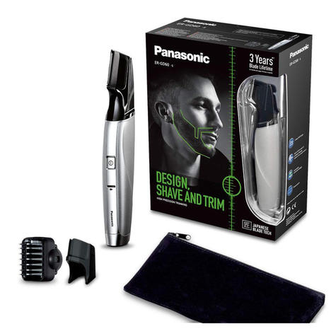 Panasonic i-Shaper 3-in-1 Beard Trimmer | Corded-Cordless Use | ERGD60S | Silver | NEW Thumbnail 4