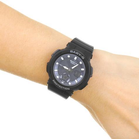 Casio Baby-G Unisex Analogue & Digital Watch | Neon Illuminator | Resin Band | Black Thumbnail 3