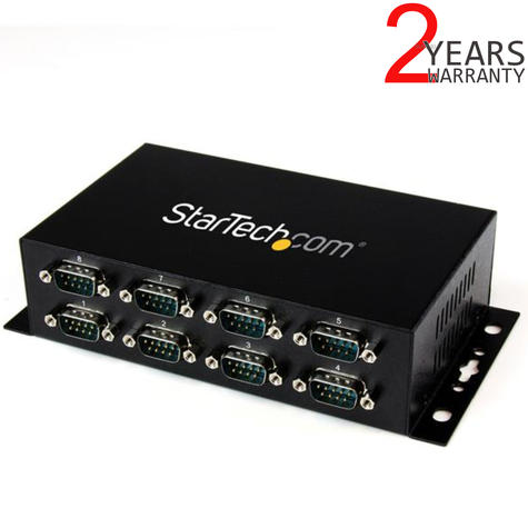 StarTech 8 Port USB to DB9 RS232 Serial Adapter Hub (Rail/ Wall Mountable) Thumbnail 1