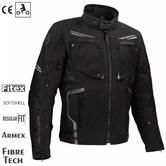 Bering Zodd Motorcycle/Bike Textile Jacket - Black|Waterproof|CE Approved|Dual-Use|EU54/UK44/XL