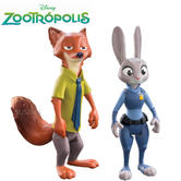 Disney Zootropolis Value Figure | 23cm Tall | Judy Hopps &Nick Fully Articulated | +3 Years