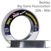 Berkley Big Game Clear Fluorocarbon Leader Line | Sea Carp | 20 lb to 80 lb | All Size