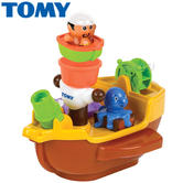 Tomy Pirate Bath Ship | Aquafun Toy With Water Squirting | Bathtime/Funtime Toy