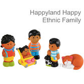 Early Learning Centre Happyland Happy Ethnic Family Toys | Encourage Talking | 18+M