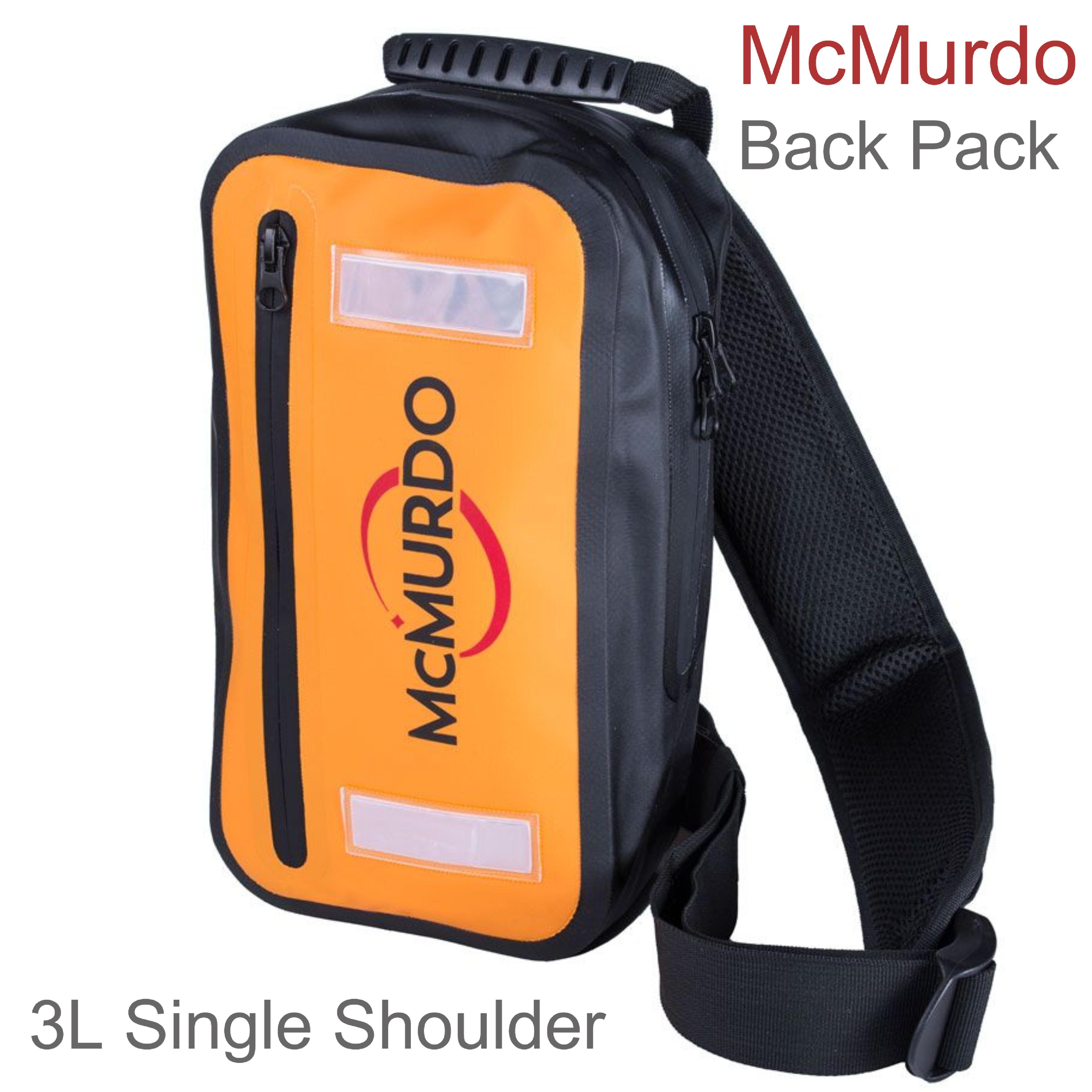 McMurdo 3L Single Shoulder Splashproof Back Pack | For Placed VHF Radio/EPIRB/SART