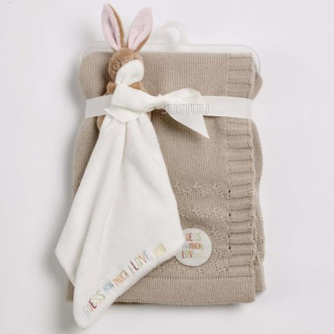 Guess How Much I Love You Knitted Blanket Gift Set | Baby's Soft Comforter | +0 Month Thumbnail 1
