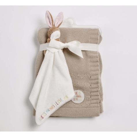 Guess How Much I Love You Knitted Blanket Gift Set | Baby's Soft Comforter | +0 Month Thumbnail 2