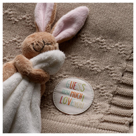Guess How Much I Love You Knitted Blanket Gift Set | Baby's Soft Comforter | +0 Month Thumbnail 4