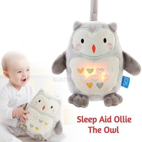 GroFriends Sleep Aid Ollie the Owl | Kid's Comfort Sleeping Toy | Light-Sound Sleep Thumbnail 1