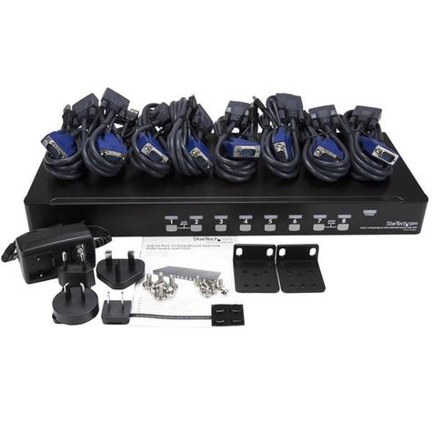 StarTech 8 Port 1U Rackmount USB KVM Switch Kit with On Screen Display and Cables Thumbnail 4