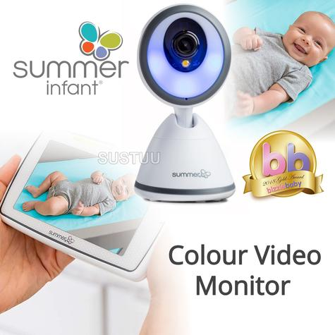 Summer Infant Baby Pixel Colour Video Monitor | 360 DegreeTilt & 3x Zoom Camera | New Thumbnail 1