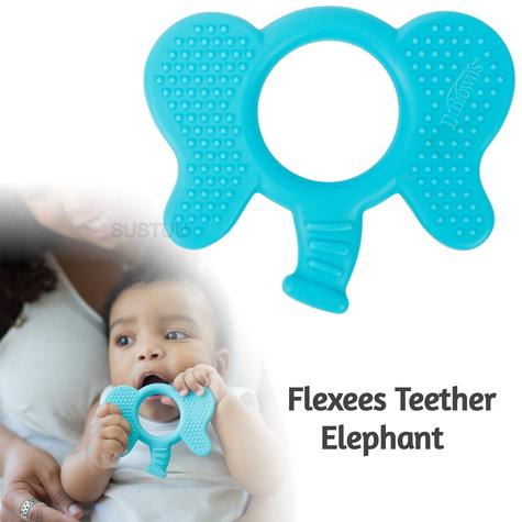 Dr Brown's Flexees Teether Elephant | for Kid's Biting/Chewing/Tongue Exploration Thumbnail 1