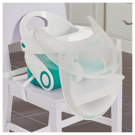 Summer Infant Sit N Style Booster Seat Teal/White | Indoor Outdoor Feeding | +6months Thumbnail 5