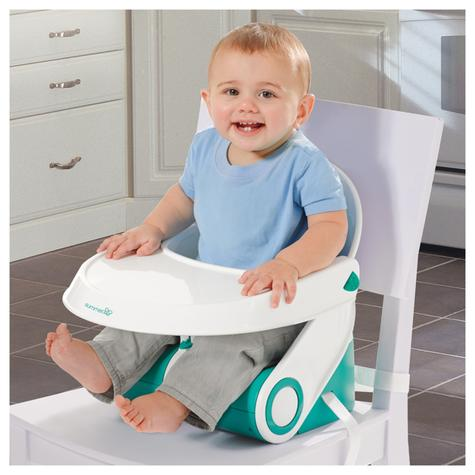 Summer Infant Sit N Style Booster Seat Teal/White | Indoor Outdoor Feeding | +6months Thumbnail 6