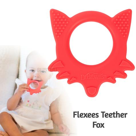 Dr Brown's Flexees Teether Fox | for Kid's Biting/Chewing/Tongue Exploration Thumbnail 1