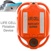 Life Cell LF3 Yachtsman Floatation Device | 4 People Marine Safety & Equipment Storage | Orange