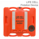 Life Cell LF2 Trawlerman Emergency Floatation Device | 6 People Marine Safety & Equipment Storage | Orange