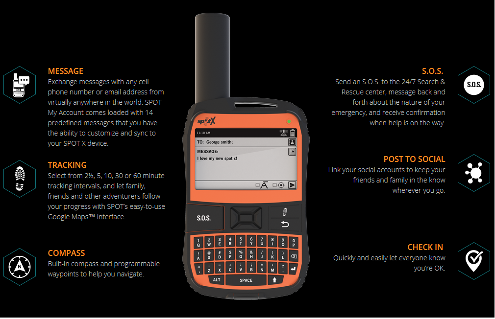 Details about SPOT X 2-WAY Satellite Messenger/ Communicator¦Emergency  Alert¦S O S¦IP67¦Orange