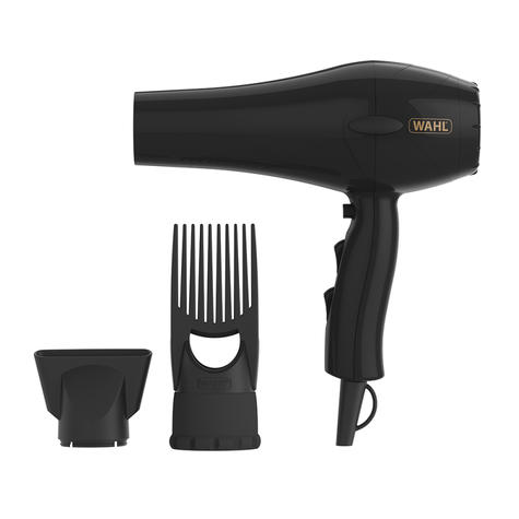 Wahl PowerPik 2 Hair Dryer | 1500W | 3 Heat & 2 Speed Settings | 3M Cable | Black | ZY017 Thumbnail 3