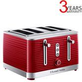 Russell Hobbs 24382 Inspire High Gloss Plastic 4-Slice Toaster | Frozen Setting