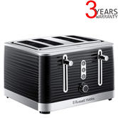 Russell Hobbs 24381 Inspire High Gloss Plastic 4 Slice Toaster | Reheat Settings