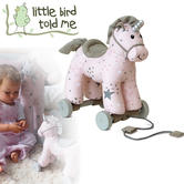 Little Bird Told Me Celeste Unicorn Pull Along | Removable Wheels | 24x14x24cm | +6 Months
