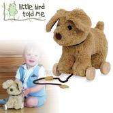 Little Bird Told Me Dexter Dog Pull Along Toy | Removable Wheels | 25L x 14W x 25Hcm | +6 Months