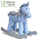 Little Bird Told Me Moonbeam & Rae Rocking Unicorn | Ride On | With Soft Fabric | 12m+
