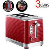 Russell Hobbs 24372 Inspire High Gloss Plastic 2 Slice Toaster | Red Chrome | Reheat