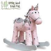 Little Bird Told Me Celeste & Fae Rocking Unicorn 12m+ | Ride On | With Soft Fabric | 12m+