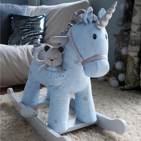 Little Bird Told Me Celeste & Fae Rocking Unicorn 9m+   Ride On   With Soft Fabric Thumbnail 3