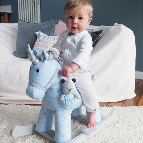 Little Bird Told Me Celeste & Fae Rocking Unicorn 9m+   Ride On   With Soft Fabric Thumbnail 4