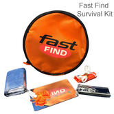 McMurdo Survival Kit | Space Blanket/Whistle/Mirror/Magnesium Fire Starter & Zip up Carry Case